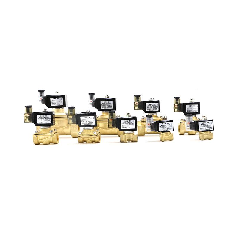 2W系列黄铜常闭式带灯防水塑封线圈款