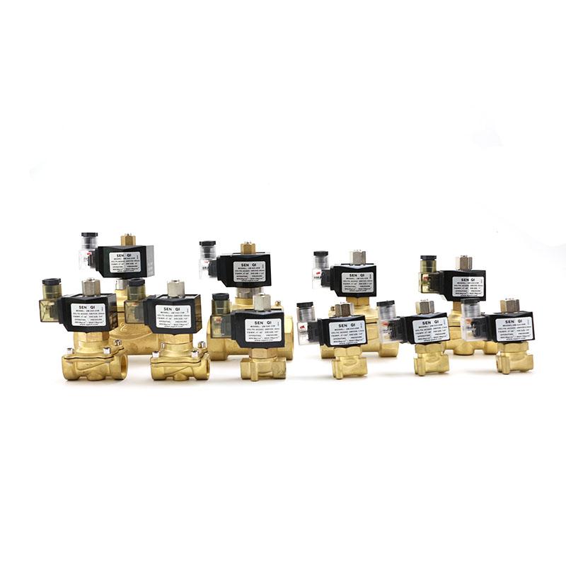 2W系列黄铜常开式带灯防水塑封线圈款